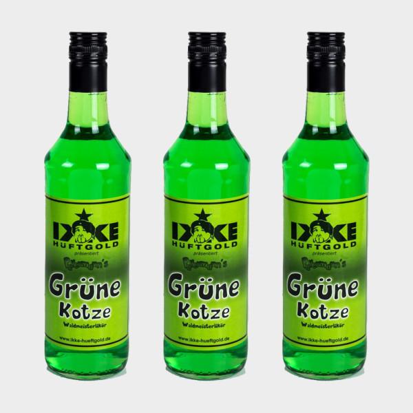 Grüne Kotze Partypaket 3 Flaschen